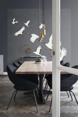 fotomurale uccelli gru grigio scuro