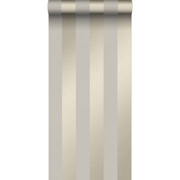 carta da parati strisce grigio talpa