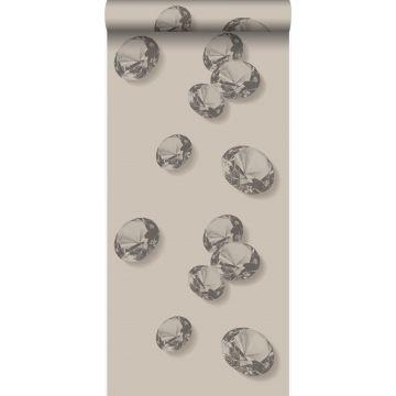 carta da parati diamantes grigio e nero