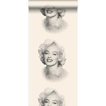 carta da parati Marilyn Monroe bianco e nero