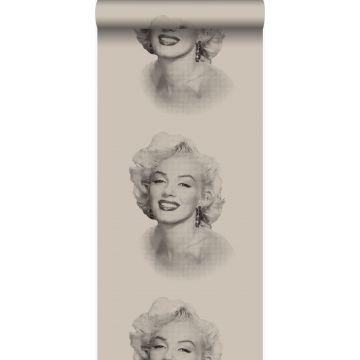 carta da parati Marilyn Monroe grigio e nero
