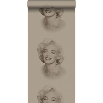 carta da parati Marilyn Monroe bronzo lucente