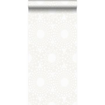 carta da parati forma grafica bianco