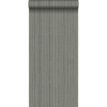carta da parati sottili righe irregolari con struttura in sabbia grigio talpa