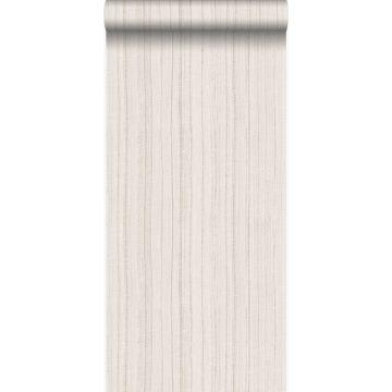 carta da parati sottili righe irregolari con struttura in sabbia beige