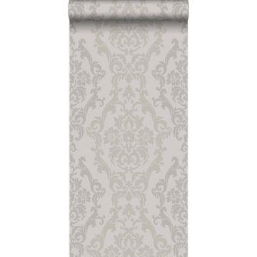 carta da parati ornamento grigio talpa