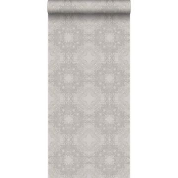 carta da parati forma grafica grigio talpa