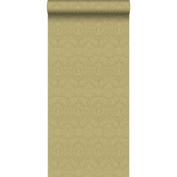 carta da parati ornamento oro lucido chiaro