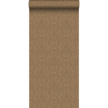 carta da parati ornamento bronzo lucente