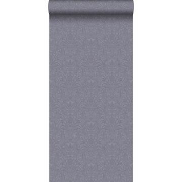 carta da parati ornamento viola e grigio