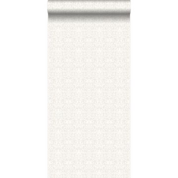 carta da parati ornamento bianco e grigio chiaro