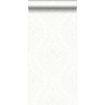 carta da parati ornamento bianco sporco
