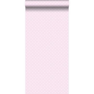 carta da parati puntini rosa chiaro