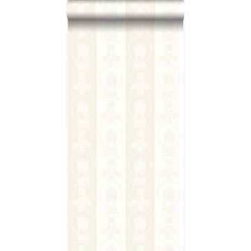 carta da parati ornamento argento e bianco