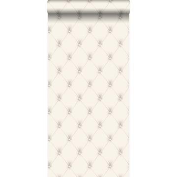 carta da parati capitonato bianco e grigio chiaro