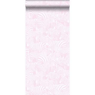 carta da parati zebre rosa chiaro