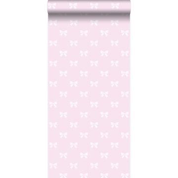 carta da parati piccoli fiocchi rosa chiaro