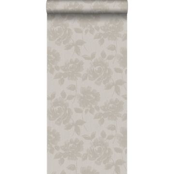 carta da parati rose grigio talpa chiaro