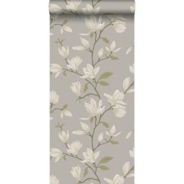 carta da parati magnolia verde