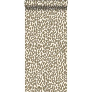 carta da parati pelle di leopardo beige