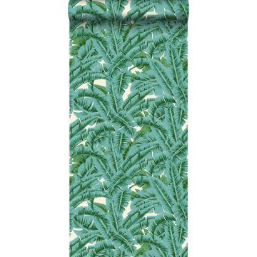 carta da parati foglie di palma verde