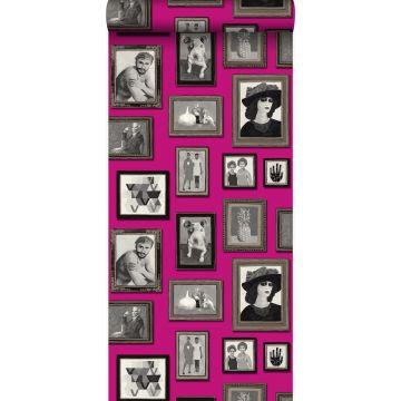 carta da parati dipinti caramelle rosa