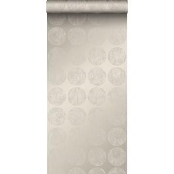 carta da parati grandi sfere alterate e invecchiate dalle intemperie argento caldo