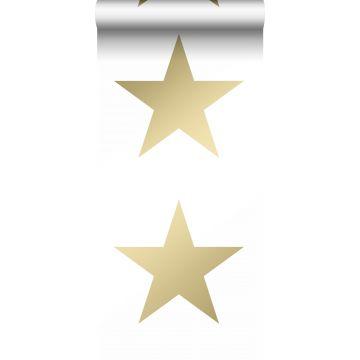 carta da parati stella bianco e oro