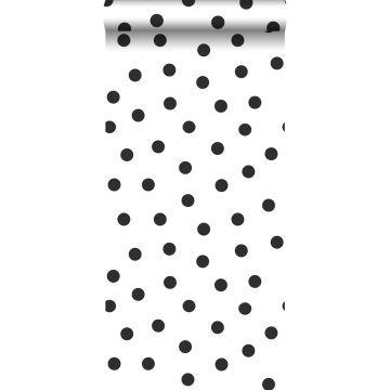 carta da parati puntini bianco e nero