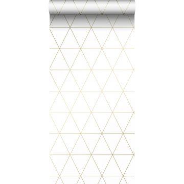 carta da parati triangoli grafici bianco e oro