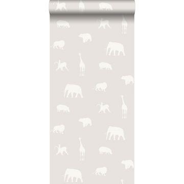 carta da parati animali grigio caldo grigiastro brillante