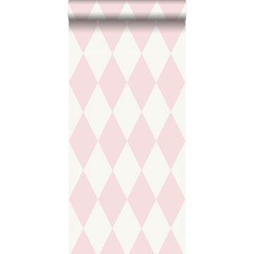 carta da parati rombo rosa lucido