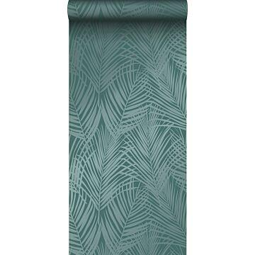 carta da parati foglie di palma verde smeraldo