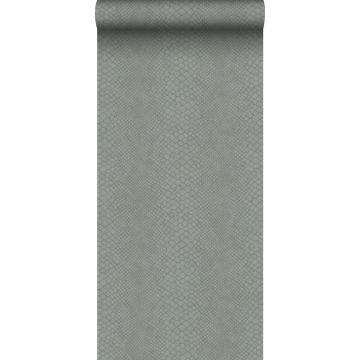carta da parati pelle di serpente grigio talpa