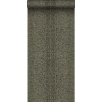 carta da parati pelle di coccodrillo grigio talpa