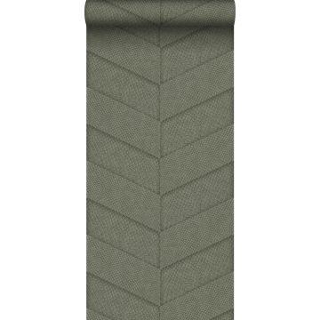 carta da parati effetto di piastrelle con stampa pelle di serpente verde oliva grigiastro