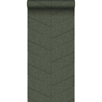 carta da parati effetto di piastrelle con stampa pelle di serpente verde grigiastro