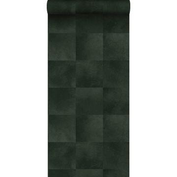 carta da parati struttura di pelle di animale verde scuro