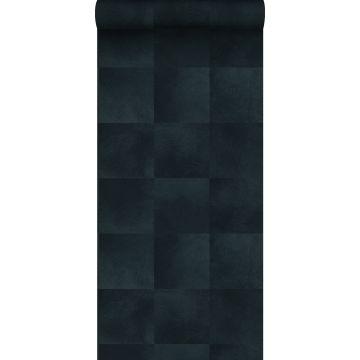 carta da parati struttura di pelle di animale blu inchiostro