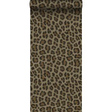 carta da parati pelle di leopardo marrone e beige