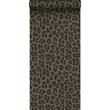 carta da parati pelle di leopardo grigio talpa