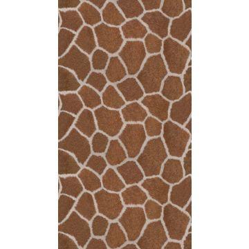 fotomurale a stampa pelle di giraffa marrone