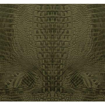 fotomurale pelle di coccodrillo verde muschio