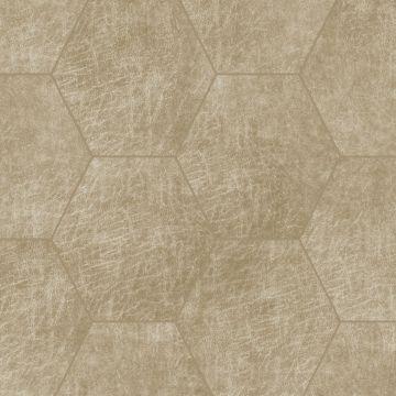 pannelli decorativi eco-pelle autoadesivi esagono beige sabbia