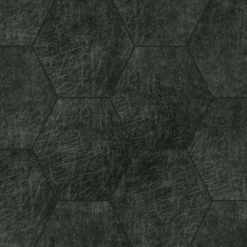 pannelli decorativi eco-pelle autoadesivi esagono grigio antracite