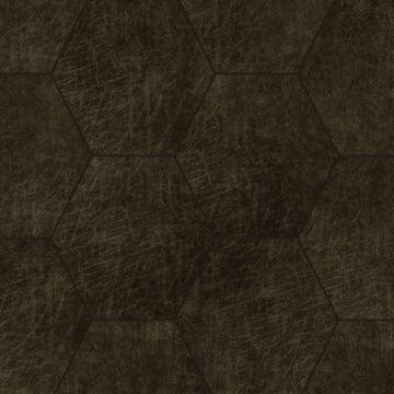 pannelli decorativi eco-pelle autoadesivi esagono marrone scuro
