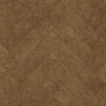pannelli decorativi eco-pelle autoadesivi spina di pesce marrone cognac