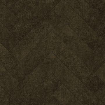 pannelli decorativi eco-pelle autoadesivi spina di pesce marrone scuro